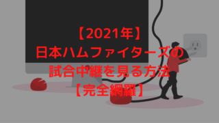 【2021年】日本ハムファイターズの試合中継を見る方法【完全網羅】
