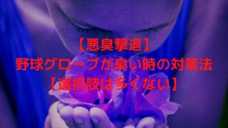 【悪臭撃退】野球グローブが臭い時の対策法【選択肢は多くない】