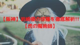 【阪神】岩崎優の球種を徹底解析!!【虎の魔術師】