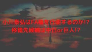 小川泰弘はFA権を行使するのか!?移籍先候補は中日or巨人!?