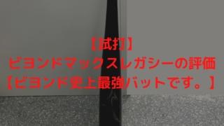 【試打】ビヨンドマックスレガシーの評価【ビヨンド史上最強バットです。】