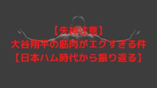 【失神注意】大谷翔平の筋肉がエグすぎる件【日本ハム時代から振り返る】